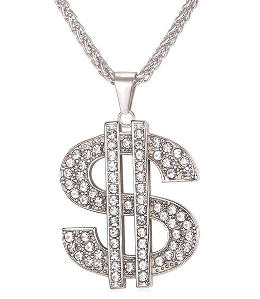 U7-US-Dollar-Money-Necklace-Pendant-316L-Stainless-Steel-Gold-Color-Chain-For-Women-Men-Rhinestone_316L Stainless Steel